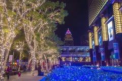 Luces de la Navidad de Taipei, Taiwán Fotografía de archivo libre de regalías