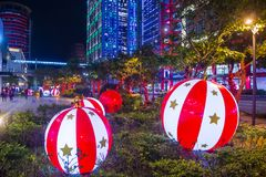Luces de la Navidad de Taipei, Taiwán Fotos de archivo