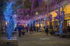 Luces de la Navidad de Taipei, Taiwán Imagen de archivo