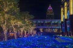 Luces de la Navidad de Taipei, Taiwán Imágenes de archivo libres de regalías