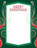 Luces de la Navidad Template2 Fotografía de archivo