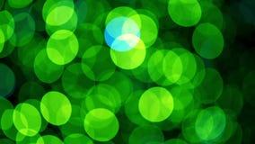 Luces de la Navidad verdes almacen de video