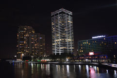Luces de la noche de Jacksonville Foto de archivo libre de regalías