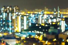 Luces de la noche de la ciudad grande Fotos de archivo libres de regalías