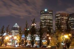 Luces de la noche de Montreal Imagen de archivo libre de regalías
