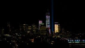 Luces de la noche de NYC Imágenes de archivo libres de regalías