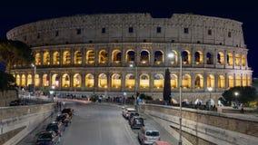 Luces de la noche del Colosseum almacen de video