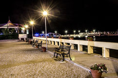 Luces de la noche del Mar Negro Foto de archivo libre de regalías