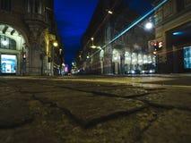 Luces de la noche en la ciudad Foto de archivo libre de regalías