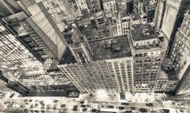 Luces de la noche de Manhattan Horizonte de la ciudad del Midtown, visión hacia abajo Fotografía de archivo libre de regalías
