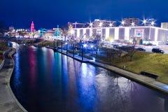 Luces de la plaza de Kansas City Fotografía de archivo libre de regalías