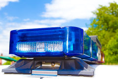 Luces de la policía Imagen de archivo libre de regalías