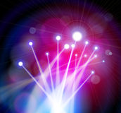 Luces de la óptica de fibras Imagenes de archivo