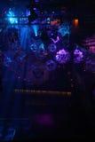 Luces de la sala de baile del club nocturno Foto de archivo libre de regalías