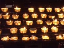 Luces de la vela Fotografía de archivo libre de regalías