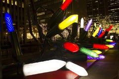 Luces de las decoraciones de New York City de la Navidad fotografía de archivo libre de regalías