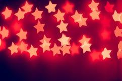 luces de las estrellas rojas Fotografía de archivo libre de regalías