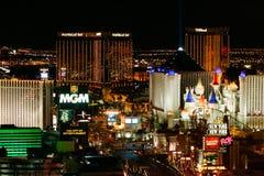 Luces de Las Vegas en la noche Fotos de archivo libres de regalías