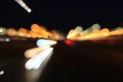 Luces de los coches Fotos de archivo