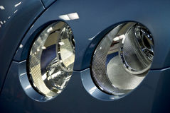 Luces de lujo de la pista del coche Foto de archivo libre de regalías