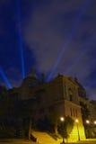 Luces de Montjuic Imagenes de archivo