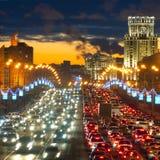 Luces de Moscú Foto de archivo libre de regalías