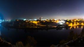 Luces de Narva de la fortaleza Fotografía de archivo libre de regalías