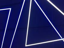 Luces de neón azules imagen de archivo