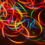 Luces de neón del disco del baile Fotografía de archivo