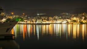 Luces de Neos Marmaras Fotografía de archivo