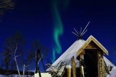 Luces de Nortern en Tromso Imágenes de archivo libres de regalías
