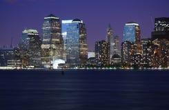 Luces de NYC Imagen de archivo libre de regalías