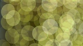 Luces de oro de Bokeh que centellan el fondo metrajes