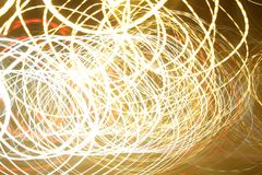 Luces de Swirly fotos de archivo