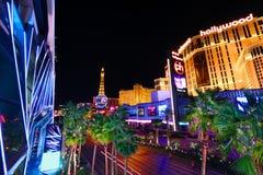 Luces de tira de Las Vegas fotos de archivo
