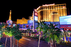 Luces de tira de Las Vegas fotografía de archivo