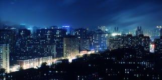 Luces de un centelleo de la miríada de una ciudad foto de archivo libre de regalías