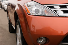 Luces de un coche Imágenes de archivo libres de regalías