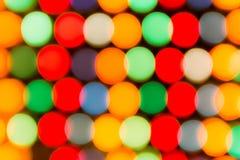 Luces Defocused, abstracción colorida de los círculos Imágenes de archivo libres de regalías