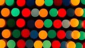 Luces Defocused, abstracción colorida de los círculos Imagenes de archivo