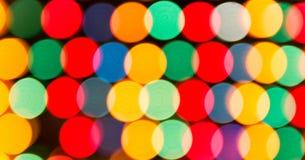 Luces Defocused, abstracción colorida de los círculos Foto de archivo libre de regalías
