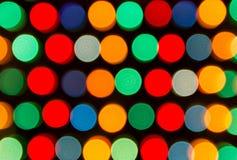 Luces Defocused, abstracción colorida de los círculos Imagen de archivo libre de regalías