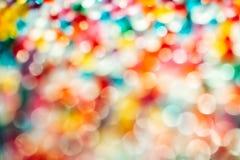 Luces defocused borrosas del multicolor fotografía de archivo libre de regalías