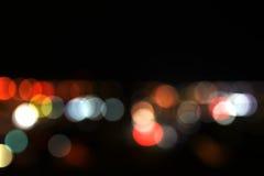 Luces defocused coloridas del bokeh Imagen de archivo libre de regalías