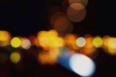 Luces defocused coloridas del bokeh Foto de archivo