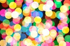 Luces defocused coloridas del bokeh Imagen de archivo