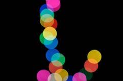 Luces defocused coloridas del bokeh Imagenes de archivo
