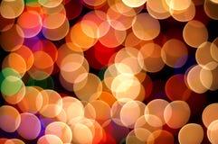 Luces Defocused de los colores Foto de archivo libre de regalías
