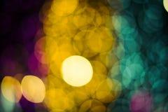 Luces Defocused del bokeh del extracto del fondo de las luces Fotos de archivo libres de regalías