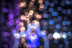 Luces Defocused del bokeh del extracto del fondo de las luces Fotografía de archivo